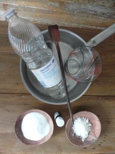 Préparation produit vaisselle
