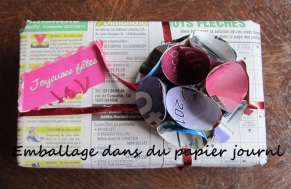 http://larecredelucia.e-monsite.com/pages/papier-mache/bricolages-papier/emballages-avec-du-papier-journal.html