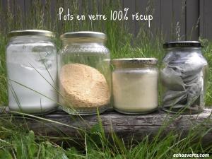 pots en verre recylés