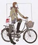 femme à vélo