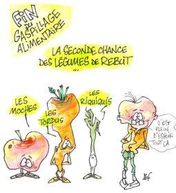 légumes au rebut